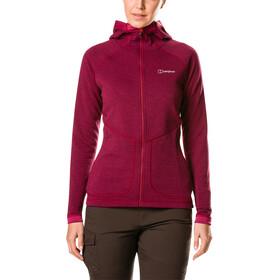 Berghaus Redonda Hooded Fleece Jacket Women Sangria/Poinsettia